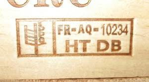 ISPM 15 stamp on a pallet