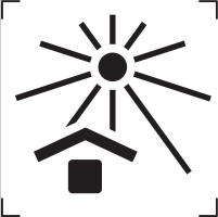 keep away from sunlight icon